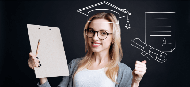 Student girl is researching how to get her overseas education qualification recognised to study in Australia at university.