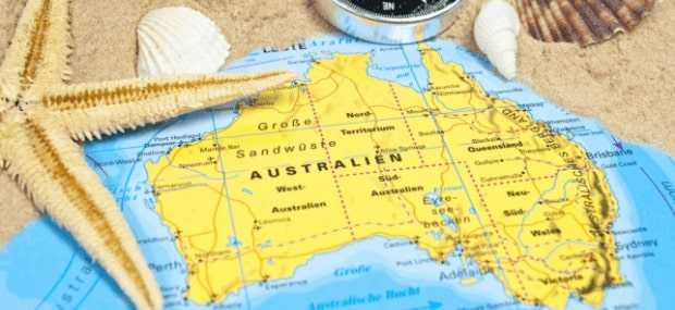 Australia map showing cities and universities for international students who want to study in Australia.